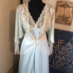 Vintage 60's Dior Nightgown and Matching Robe